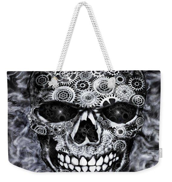 Steampunk Skull Weekender Tote Bag