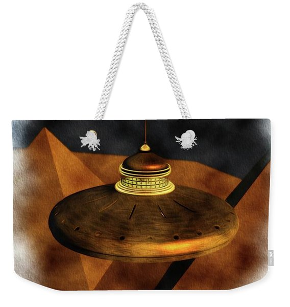 Steampunk Ufo In Ancient Egypt Weekender Tote Bag