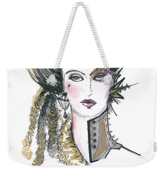 Steampunk Watercolor Fashion Illustration Weekender Tote Bag