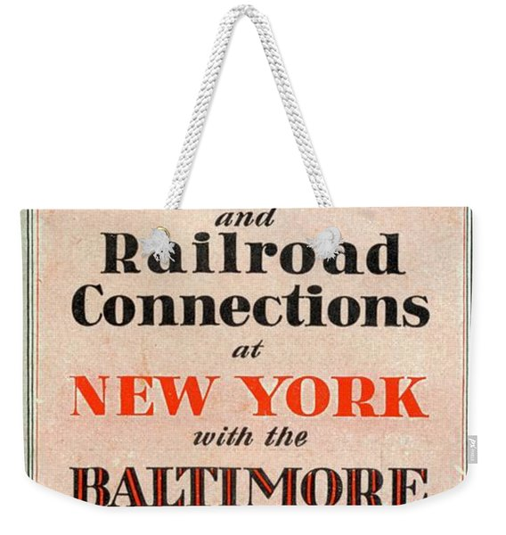 Steamship And Railroad Connections At New York Weekender Tote Bag