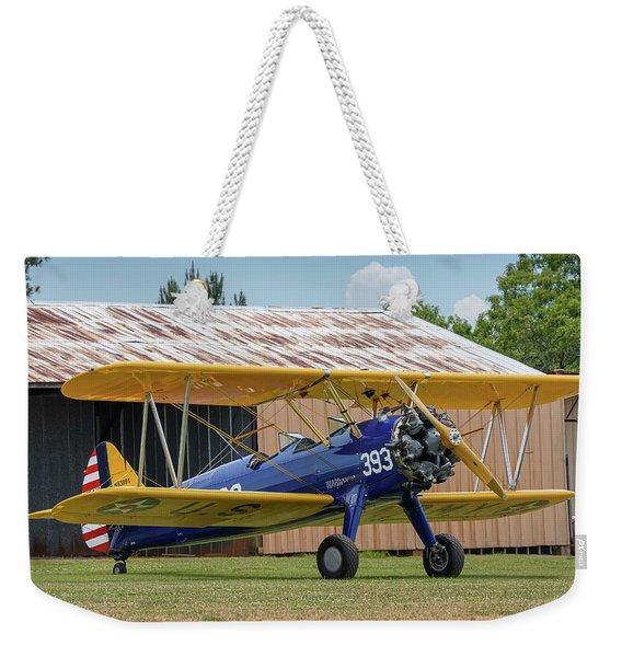 Stearman And Old Hangar Weekender Tote Bag