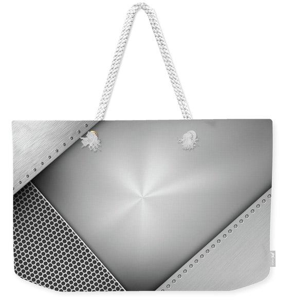 Steel Abstract 1 Weekender Tote Bag