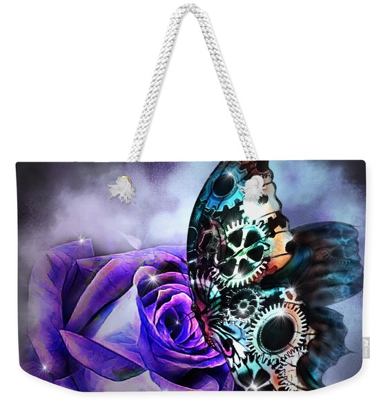 Steel Butterfly Weekender Tote Bag