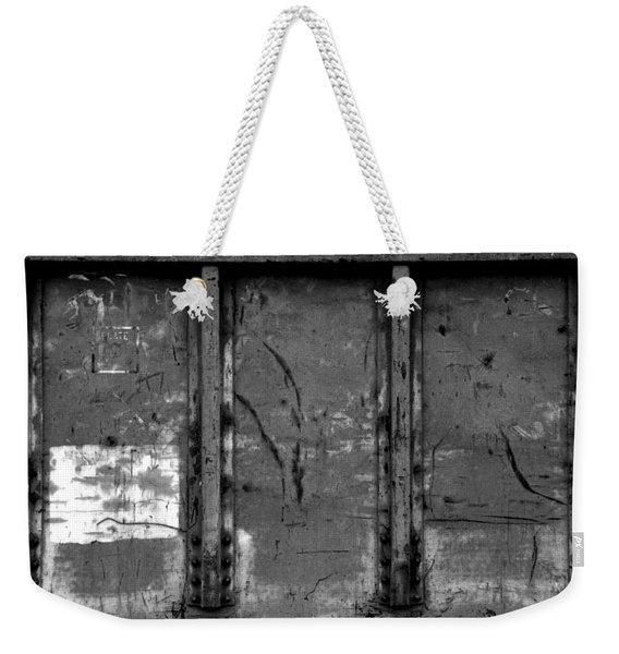 Steel Plated Weekender Tote Bag