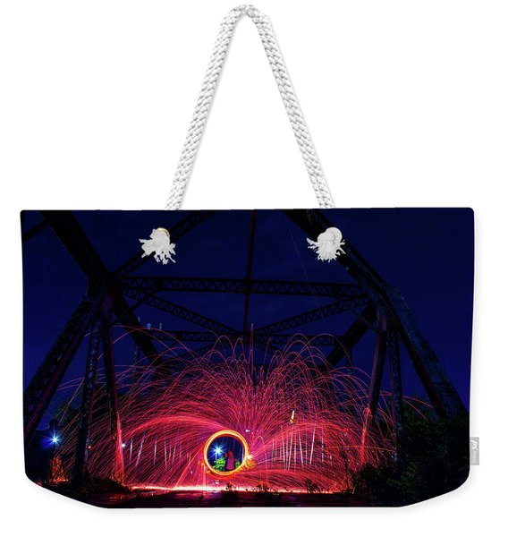 Steel Wool Spinner Weekender Tote Bag
