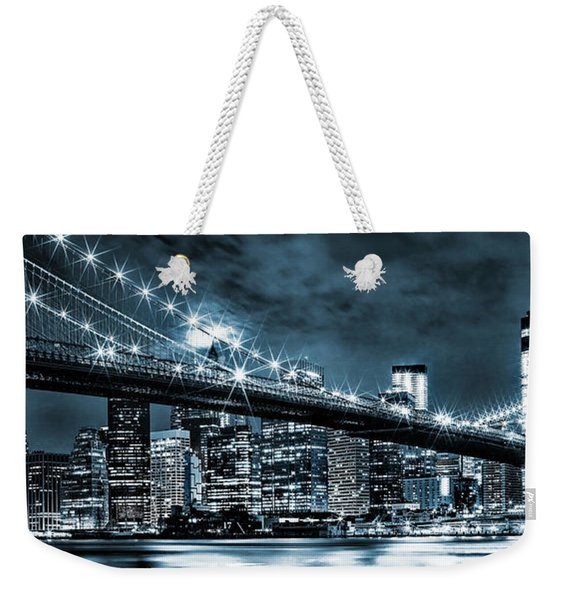 Steely Skyline Weekender Tote Bag