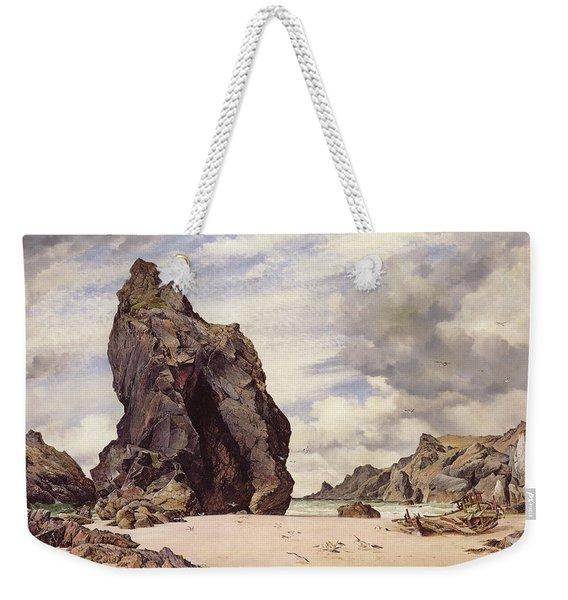 Steeple Rock, Kynance Cove, Lizard, Cornwall, Low Water, 1873 Weekender Tote Bag
