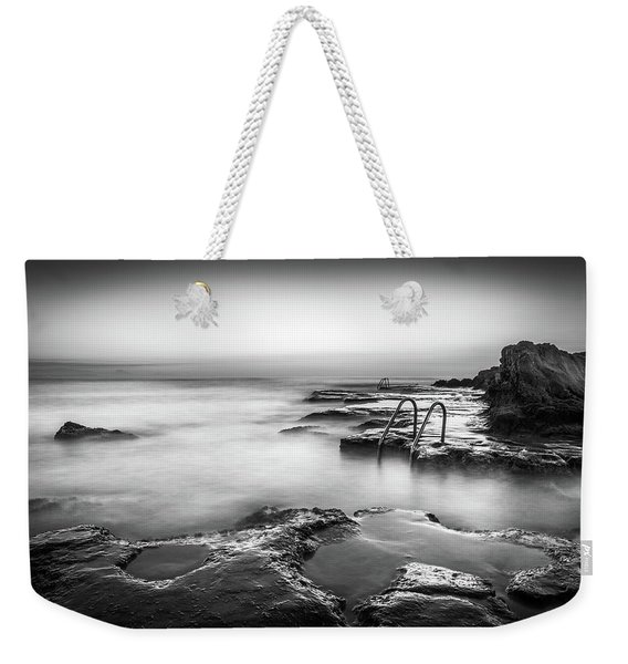 Steps Into The Sea Bw Weekender Tote Bag
