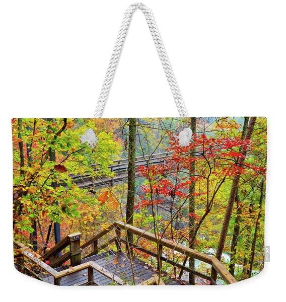 Steps To The Gorge Weekender Tote Bag