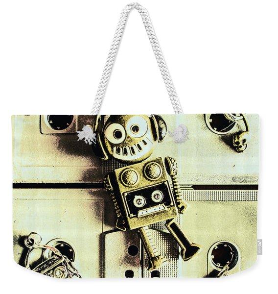Stereo Robotics Art Weekender Tote Bag
