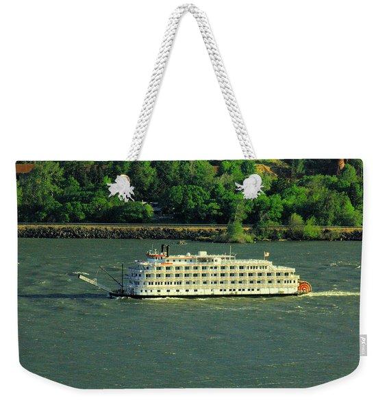 Stern Wheeler On The Columbia River  Weekender Tote Bag