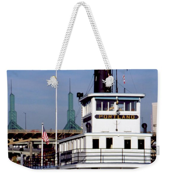 Weekender Tote Bag featuring the photograph Sternwheeler, Portland Or  by Frank DiMarco