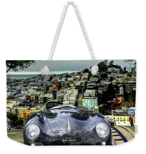 Steve Mcqueen's 58' Porsche 356 1600 Speedster, Telegraph Hill, San Francisco, Ca Weekender Tote Bag