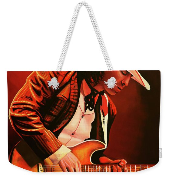 Stevie Ray Vaughan Painting Weekender Tote Bag