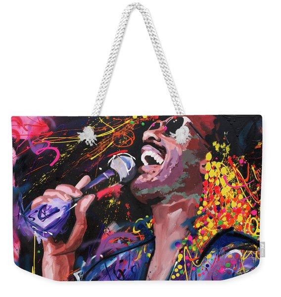 Stevie Wonder Weekender Tote Bag