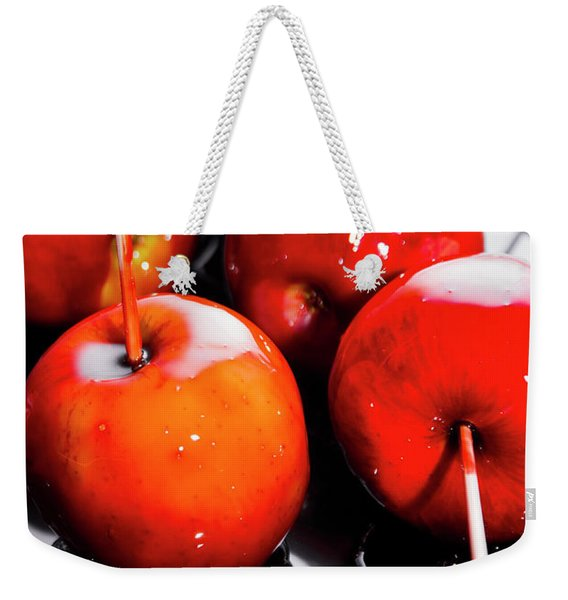 Sticky Red Toffee Apple Childhood Treat Weekender Tote Bag