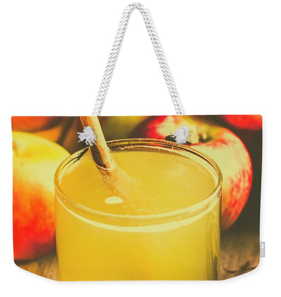 Still Life Apple Cider Beverage Weekender Tote Bag