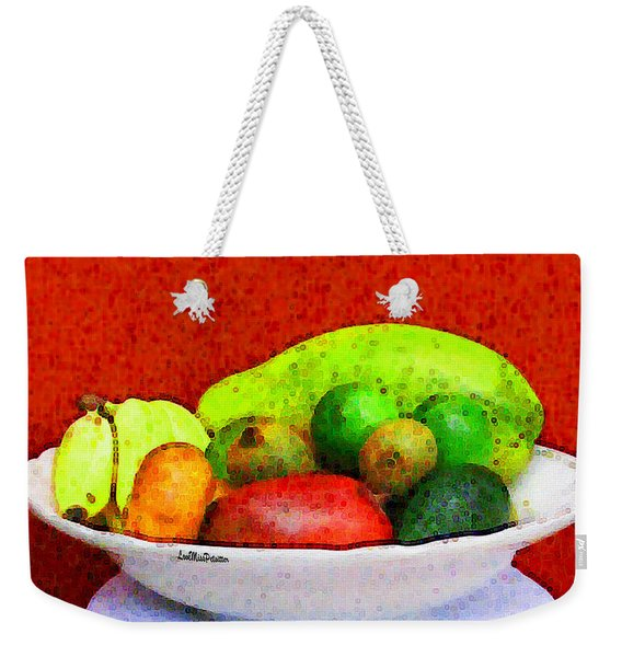 Still Life Art With Fruits Weekender Tote Bag