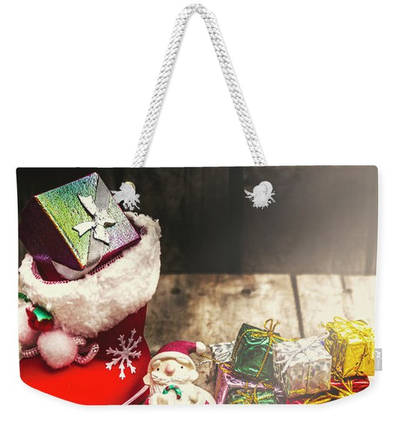 Still Life Christmas Scene Weekender Tote Bag