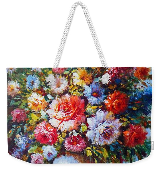 Still Life Colourful Flowers In Bloom Weekender Tote Bag