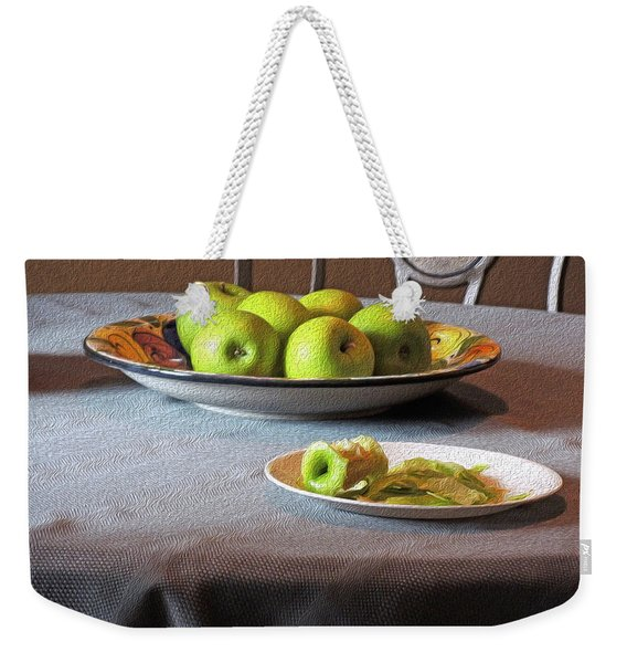 Still Life With Apples And Chair Weekender Tote Bag