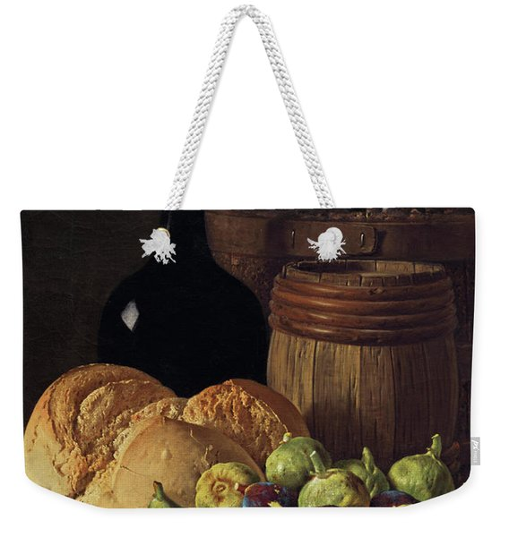 Still Life With Figs And Bread Weekender Tote Bag
