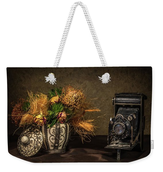 Still Life With Flowers And Camera Weekender Tote Bag