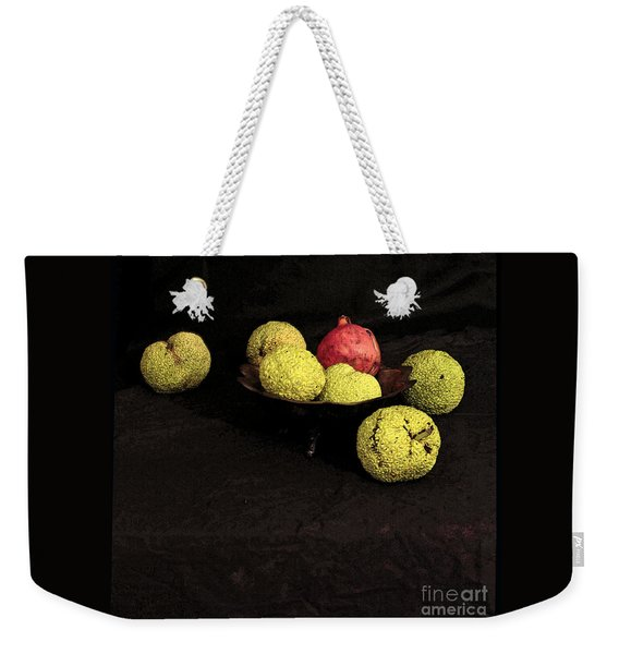 Still Life With Horse Apples Weekender Tote Bag