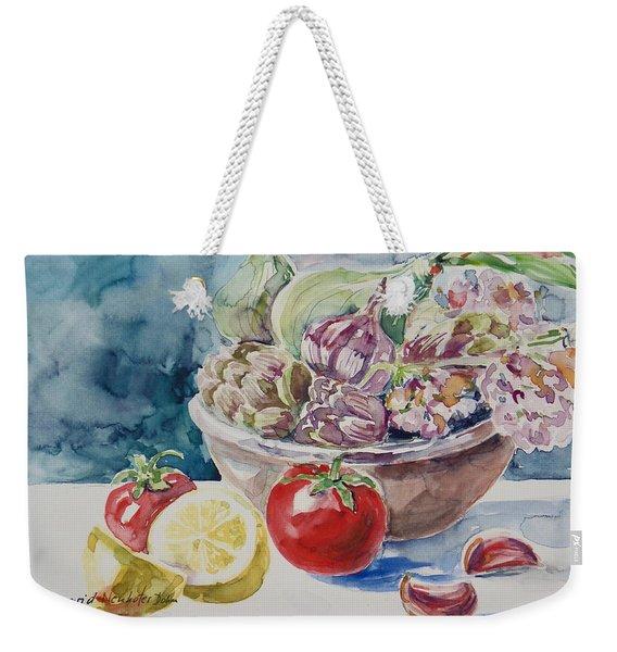Still Life With Lemon Weekender Tote Bag