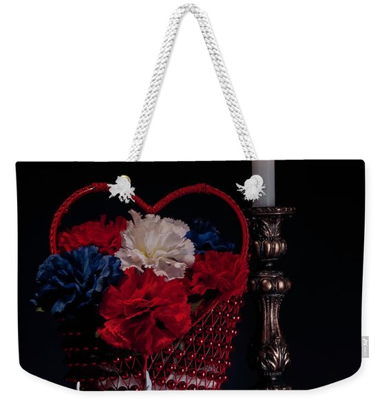 Still Life With Lovebirds Weekender Tote Bag