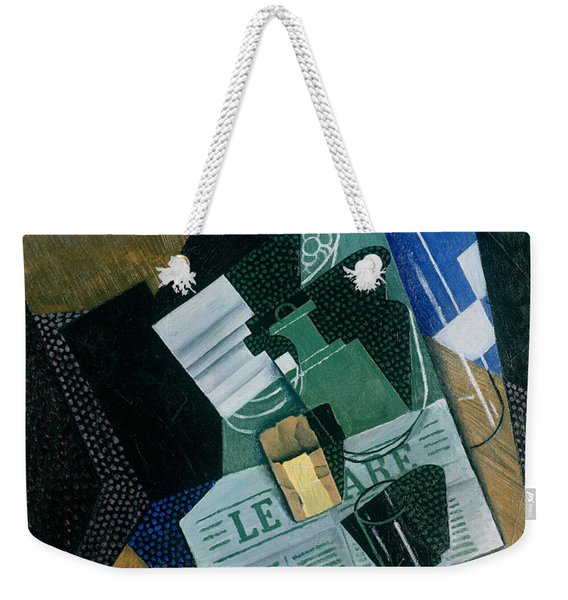 Still Life With Water Bottle, Bottle And Fruit Dish, 1915 Weekender Tote Bag