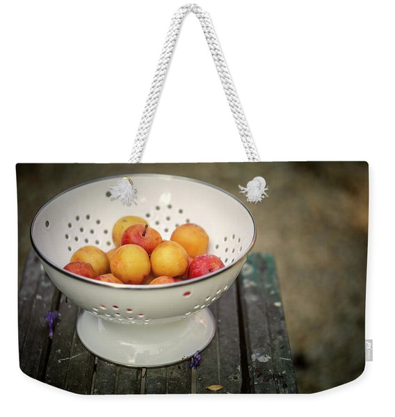 Still Life With Yellow Plums  Weekender Tote Bag