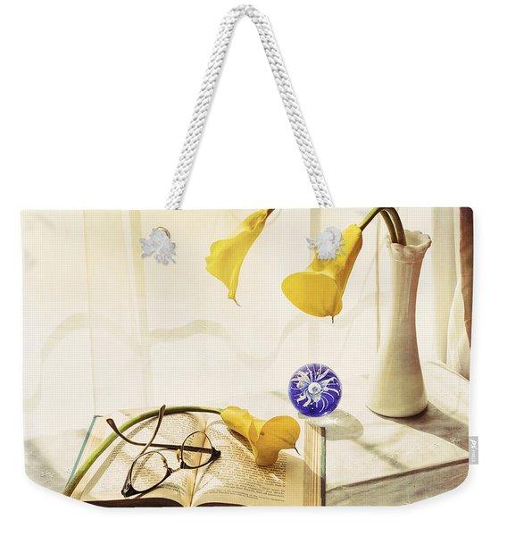 Still Life - Yellow Calla Lilies Weekender Tote Bag