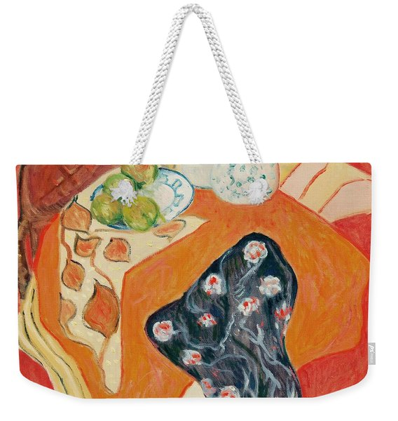 Still Live With Red Weekender Tote Bag