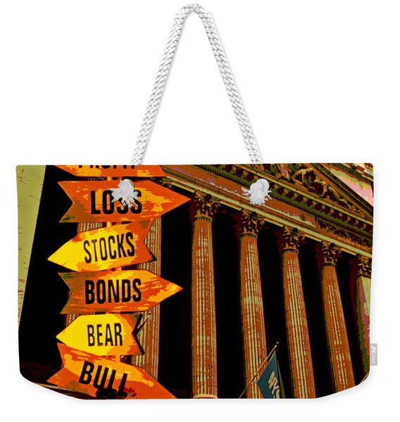 Stock Exchange And Signs Weekender Tote Bag