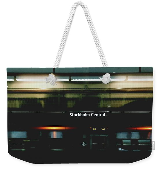 Stockholm Central- Photograph By Linda Woods Weekender Tote Bag
