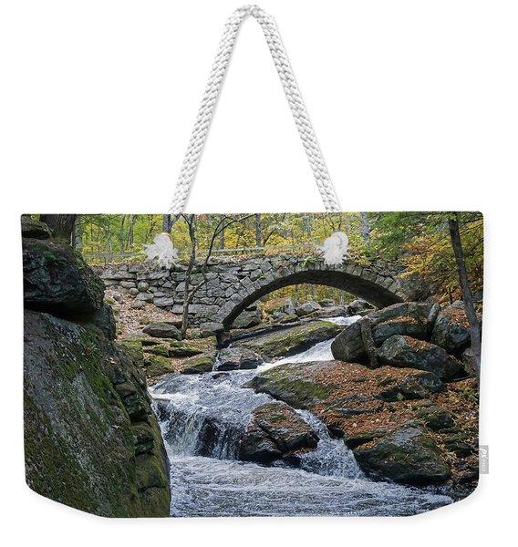 Stone Arch Bridge In Autumn Weekender Tote Bag