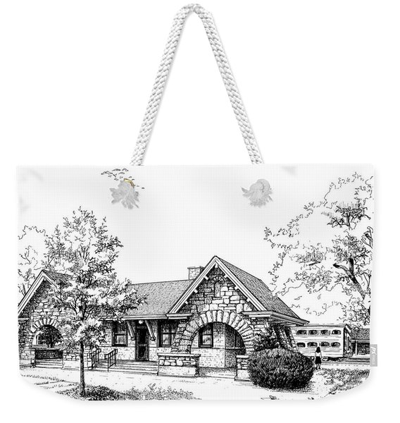 Stone Ave. Train Station Weekender Tote Bag