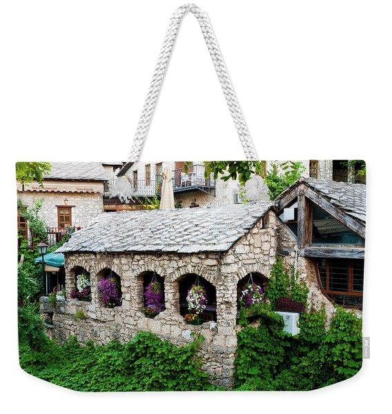 Stone Buildings Weekender Tote Bag