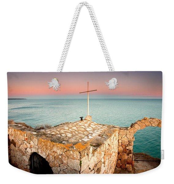 Stone Chapel Weekender Tote Bag