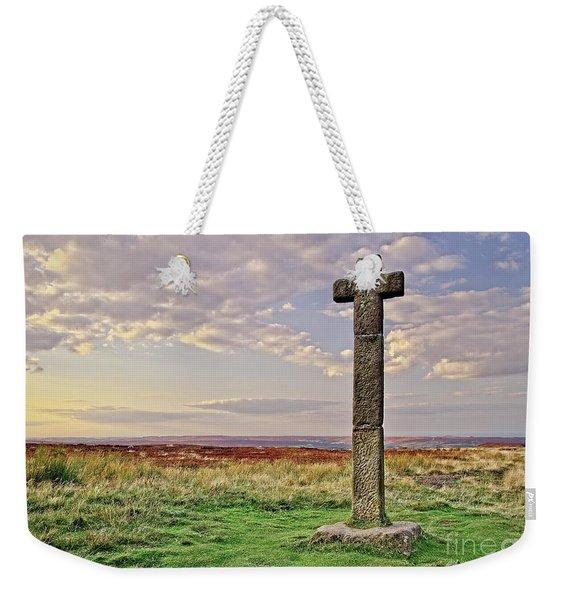 Stone Cross On North York Moors Weekender Tote Bag