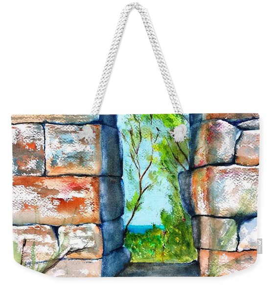 Stone Ruins Doorway Weekender Tote Bag
