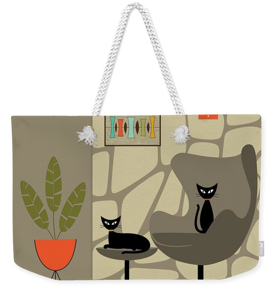 Weekender Tote Bag featuring the digital art Stone Wall by Donna Mibus