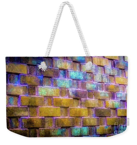 Brick Wall In Abstract 499 Weekender Tote Bag