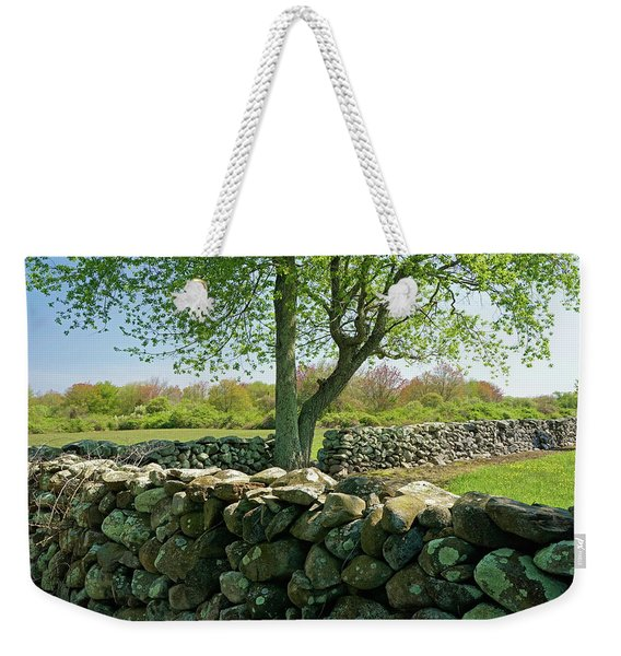 Stone Wall In Rhode Island Weekender Tote Bag