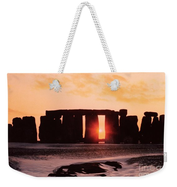 Stonehenge Winter Solstice Weekender Tote Bag