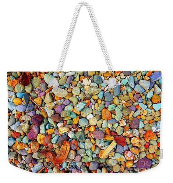 Stones And Barks On Beach Weekender Tote Bag