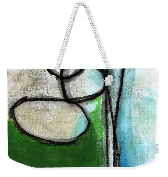 Stones- Green And Blue Abstract Weekender Tote Bag