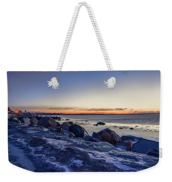 Stonington Point Blue Hour Weekender Tote Bag