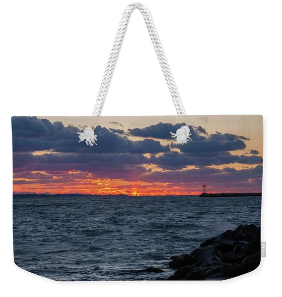 Stonington Point Sunset Weekender Tote Bag